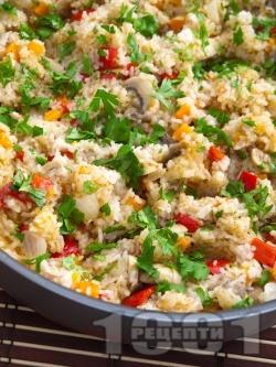 Ориз със зеленчуци и соев сос - снимка на рецептата